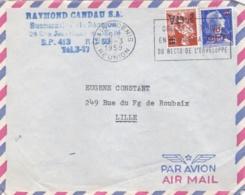 REUNION :  Moissonneuse Et Muller Sur Lettre  Oblitération De Saint-Denis - Covers & Documents