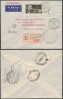 AEF - Lettre Recommandé Yv138 De Libreville, Gabon Vers Montevideo, Uruguay 08/10/1943 (7G29710) DC2566 - A.E.F. (1936-1958)