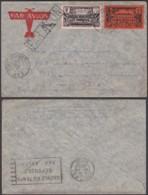 AEF - Lettre Affranchissement Mixte Yv11 De Archambault, Ubangui-Shari Vers USA 24/12/1937 (7G29710) DC2580 - A.E.F. (1936-1958)