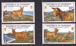 GUERNSEY 1980 Goats Complete MNH Set Mi 209 / 212 - Guernsey