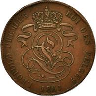Monnaie, Belgique, Leopold I, 2 Centimes, 1861, TB+, Cuivre, KM:4.2 - 1831-1865: Léopold I