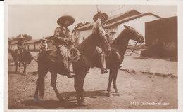 CARTE-PHOTO MEXIQUE : ECHANDO EL LAZO - Mexique