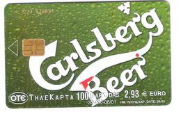 Greece - X1237 - Carlsberg Beer - 08/01 - 1223 - Grèce