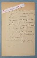 L.A.S 1889 Charles Emile JACQUE Peintre - école Barbizon - étonnante Lettre - Vernier - Lithographe - Autographe LAS - Autographes
