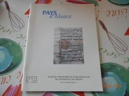 Pays D'Alsace Societe D'Histoire Et D'archeologie Saverne Et Environs Revolution  Alsace - Alsace