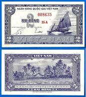 Vietnam Sud 2 Dong 1955 UNC NEUF Serie 35 A Que Prix + Port Bateau Asie Asia Dongs Paypal Skrill Bitcoin OK - Vietnam