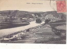 IRUN: PAISAGE DEL BIDOSOA. PEU COURANTE.1920.PETIT PLI HAUT GAUCHE.PETIT PRIX.COMPAREZ!!! - Espagne