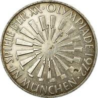 Monnaie, République Fédérale Allemande, 10 Mark, 1972, Munich, TB+, Argent - [ 7] 1949-…: BRD
