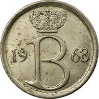 Monnaie, Belgique, 25 Centimes, 1968, Bruxelles, TB+, Copper-nickel, KM:153.1 - 02. 25 Centimes
