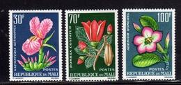 MALI 1963 FLORA TROPICAL PLANTS FLOWERS FLORE PLANTES TROPICALES FLEURS PINATE TROPICALI FIORI COMPLETE SET SERIE MNH - Mali (1959-...)