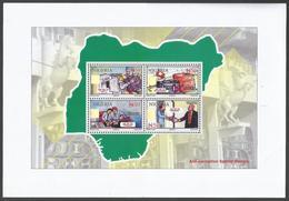 Nigeria 2016 War Aganist Corruption MS Mint - Nigeria (1961-...)