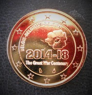 BELGIQUE - PIECE DE 2 € - CENTENAIRE 1 ERE GUERRE MONDIALE 2018 - DOREE OR FIN 24 CARATS - LIVREE SOUS CAPSULE - Belgique