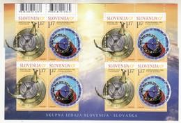 3333 Slovenia Joint Slovakia Slovensko 2019 ** MNH MS Sundial Astronomical Clock - Slovénie