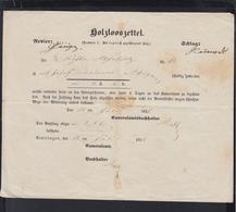 Reutlingen Holzlooszettel 1851 - Historische Documenten