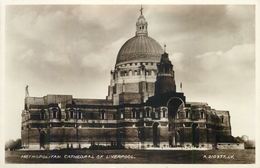 LIVERPOOL - METROPOLITAN CATHEDRAL ~ AN OLD POSTCARD #90693 - Liverpool