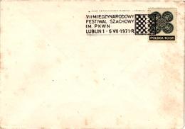 Chess Schach Echecs Ajedrez -Poland. Lublin 1971 - 7th International Tournament - Cover CKM 321a - Echecs