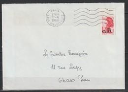YT 2530 L 2,20F ECU Liberté, Sur Lettre Du 17.04.88, 1er Jour De Mise En Vente - 1982-90 Liberty Of Gandon
