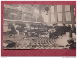CHARBONNAGE - BELGIQUE - Intérieur D'une Centrale électrique, Vue Des Moteurs Et Des Tableaux De Distribution Du Courant - Mijnen