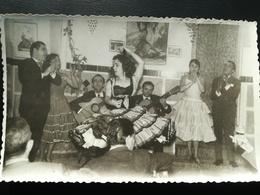 GROUPE DE 4 ARTISTES DANSE FLAMENCO Danseuse Musicien Personnes Identifiées España Espagne Spain 2 Photos Originales - Personnes Identifiées