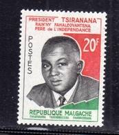 MADAGASCAR MALGACHE MALGASY REPUBLIC 1960 PRESIDENT PHILBERT TSIRANANA 20fr MNH - Madagascar (1960-...)