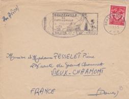 Cachet Du Bataillon De L'Air Outremer Sur Lettre De Brazzaville De 1955 - Marcophilie (Lettres)