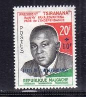 "MADAGASCAR MALGACHE MALGASY REPUBLIC 1960 ""FETES DE L'INDEPENDANCE"" PRESIDENT PHILBERT TSIRANANA 20fr + 10fr MNH - Madagascar (1960-...)"