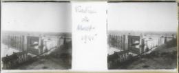 Plaque De Verre Stéréoscopique Positive - Année 1945 - Moret Sur Loing - Viaduc De Moret - Plaques De Verre
