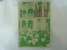 """Pieghevole """"AOUT '85 VILLE DE GENEVE Beaux Arts E Culture"""" - Dépliants Touristiques"""