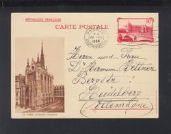 Carte Postale La Sainte Chapelle 1936 Paris - Standard- Und TSC-AK (vor 1995)
