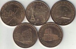 Monnaie De Paris Collection Of 5 Tokens 2002-2012 All Listed & Different - Monnaie De Paris