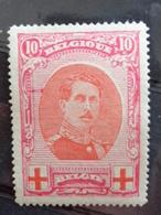 1915 - N° 133 V1 ** - CROIX ROUGE AVEC 2 TRAITS ROUGE SOUS LA VOLUTE GAUCHE - 1914-1915 Rode Kruis