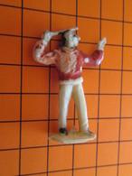 319c Figurine Publicitaire Années 50/60 CIRQUE NADI CHEF D'ORCHESTRE , Ronde-bosse , Plastique Dur Couleur Ivoire - Figurines