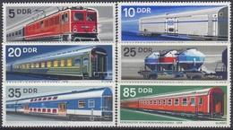 GERMANY DDR 1844-1849,unused,trains - Trains