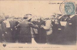 Cpa-sport -automobile-coupe Gordon Bennett-pas Sur Delc.-vainqueur Thery Acclamé...edi V.D.C. - Rallyes