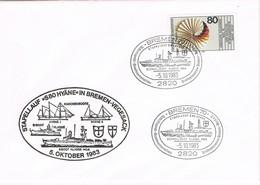 32011. Carta BREMEN (Alemania Federal) 1983. Stapellauf S80 HYANE. Schnellboot. Ship, Barco - [7] República Federal