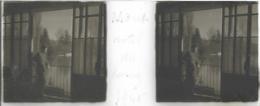Plaque De Verre Stéréoscopique Positive - Année 1945 - Moret Sur Loing - Hôtel Du Loing - Plaques De Verre