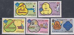 Ethiopie N° 1055 / 59 XX  Journée Mondiale Du Système Métrique,  Les 5 Valeurs Sans Charnière, TB - Ethiopie