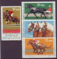 GERMANY DDR 1969-1972,unused,horses,race - Horses