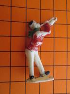 319c Figurine Publicitaire Années 50/60 CIRQUE NADI MUSICIEN TROMPETTE , Ronde-bosse , Plastique Dur Couleur Ivoire - Figurines