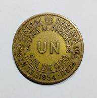 PERU - 1 SOL DE ORO ( 1954 ) - Perú