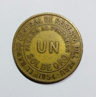PERU - 1 SOL DE ORO ( 1954 ) - Pérou