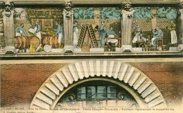 51 - REIMS - Rue De Mars. Maison De Champagne. Veuve Cliquot-Ponsardin. Tableau Représentant Le Travail Du Vin - Reims