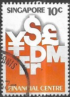 SINGAPORE 1981 Tenth Anniv Of Singapore Monetary Authority - 10c International Currency Symbols FU - Singapour (1959-...)