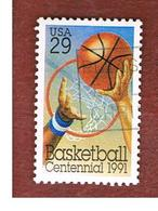 STATI UNITI (U.S.A.) - SG 2604  -    1991 BASKETBALL CENTENARY       -   USED - Vereinigte Staaten