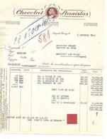 2 Factures Militaria 1946 / 54 ESSEY LES NANCY / Chocolat STANISLAS / Ration AOUT / 88 Gerard MARTIGNY - Documents