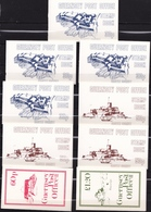 GUERNSEY 1980-1981 Coins 9 MNH Booklets Mi H 7 / 15 - Guernsey
