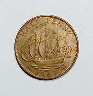 GRAN BRETAGNA / United Kingdom - HALF PENNY ( 1967 ) Queen Elizabeth II - C. 1/2 Penny