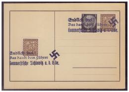 Sudetenland (007707) Stempelbeleg Endlich Frei! Das Dankt Dem Führer, Sommerfrische Tichlowitz An Der Elbe - Sudetenland