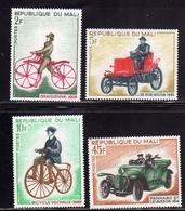 MALI 1968 DRAISIENNE BICYCLE MICHAUX DE DION-BOUTON PANHARD ET LEVASSORCOMPLETE SET SERIE COMPLETA MNH - Mali (1959-...)