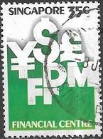 SINGAPORE 1981 Tenth Anniv Of Singapore Monetary Authority - 35c International Currency Symbols FU - Singapour (1959-...)